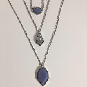 Jewelry - Blue & Gray Necklace Trio